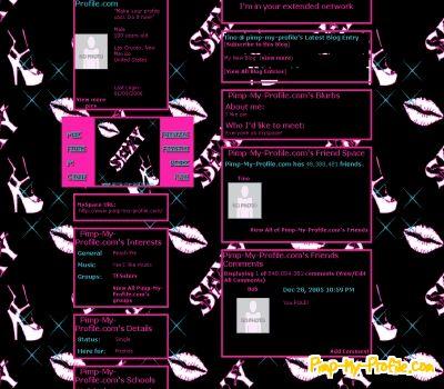 sexy hot myspace profile layouts