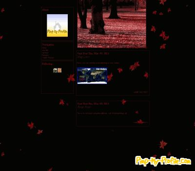 Leaves Tumblr Theme Red Fall Leaves Tumblr Themes