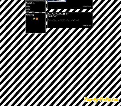Black And White Stripes Tumblr Themes Pimp My