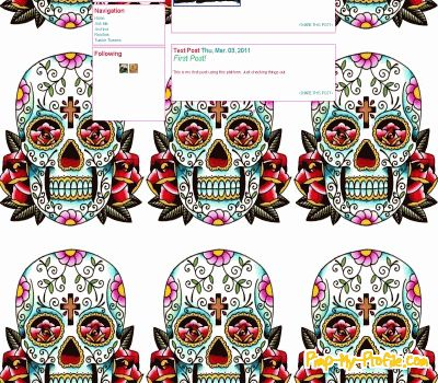 Sugar skull tumblr theme