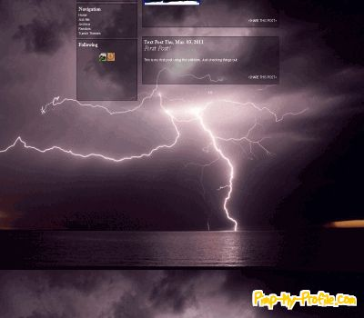 Lightning Tumblr Theme Purple Lightning Tumblr Themes