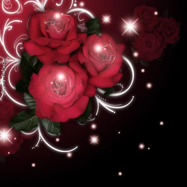 Red rose sparkle Twitter Backgrounds - Pimp-My-Profile.com